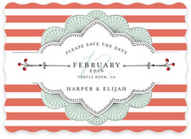Striped Sweet Nothings Save the Date Cards