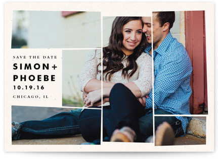 Off the Grid Mosaic Save the Date Cards