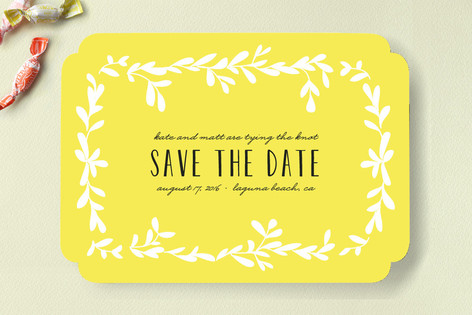 Tropical Vines Save The Date Cards