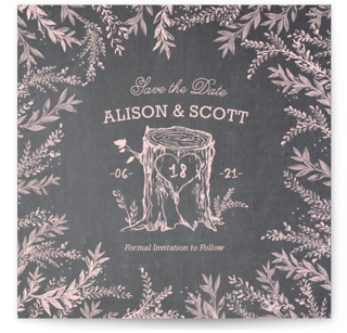 Woodland Romance Save the Date Cards