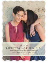 Clean Linen Save The Date Cards
