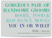 You In Or What (Two Grooms)