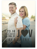 Type Stack Save The Date Cards