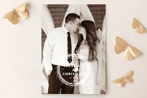 Sparkling Wreath Save The Date Cards