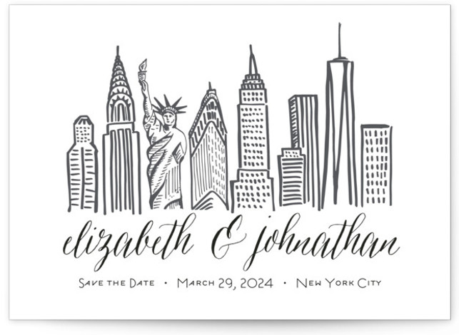 Skyline - New York City Save The Date Cards