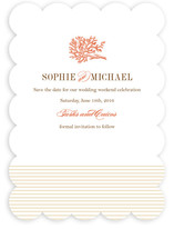 Coral Save the Date Cards