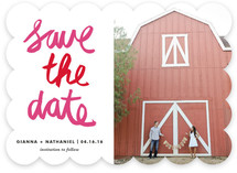 Painterly Save the Date Cards