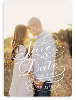 Flourished Label Save the Date Cards