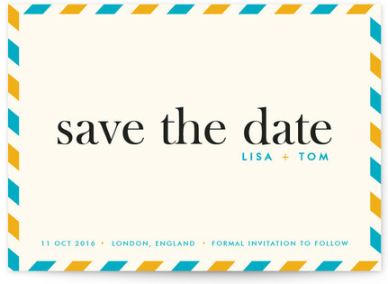 float + aerogram Save the Date Cards