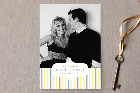 Festive Stripes Save The Date Cards