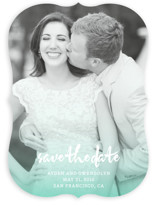 Ombre Tidings Save The Date Cards