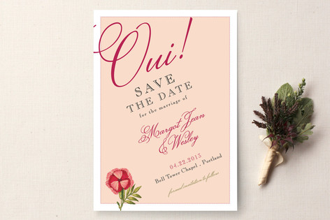C Oui Save The Date Cards