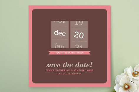 Calendar Slot Save The Date Cards
