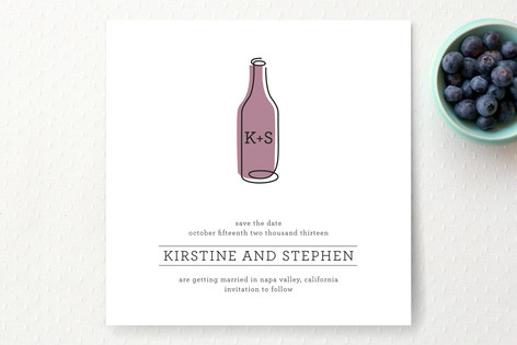 Vino Save The Date Cards