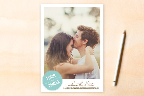 Stamped Save The Date Cards