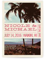 Coconut Plantation Save The Date Cards