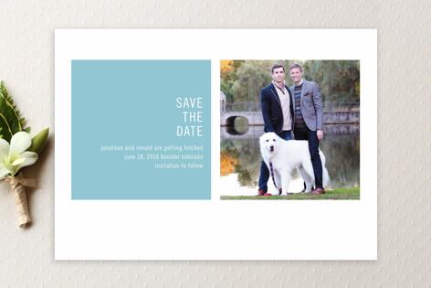 Modern Geometric Save The Date Cards