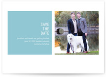 Modern Geometric Save The Date Cards