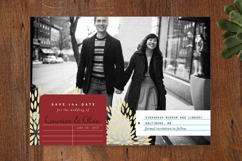 Modern Library Save The Date Cards