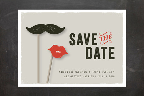 Photo Booth Props Save The Date Cards