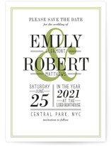 Wed in Type Save the Date Cards