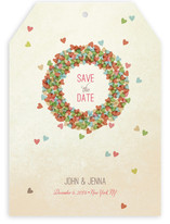 Married Wreath Save The Date Cards