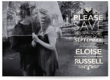 Classically Modern Save The Date Cards
