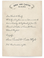 Vintage Letter Save the Date Cards