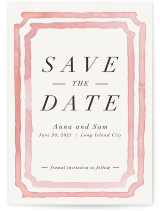 Watercolor Frame Save the Date...
