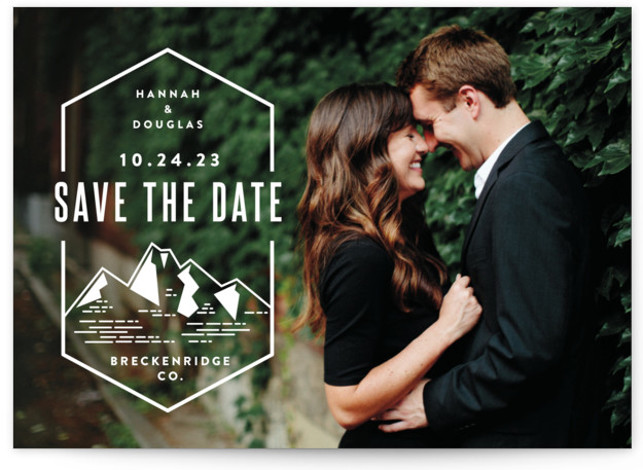 Modern Rusticism Save The Date Cards