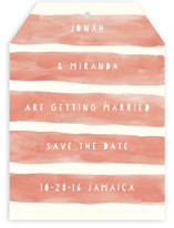 Sunset Stripe Save The Date Cards