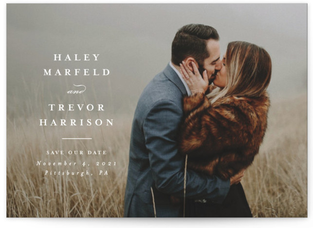 Simple side Save The Date Cards
