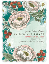 Soft Watercolor Florals Save The Date Cards