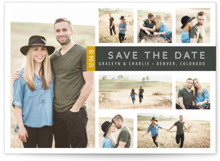 A Collage for Two Save the Date Cards