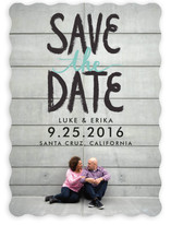 Brushed Bold Letters Save The Date Cards