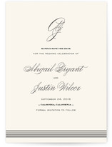 Script Monogram Save The Date Cards
