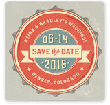 Vintage Bottle Cap Save The Date Cards