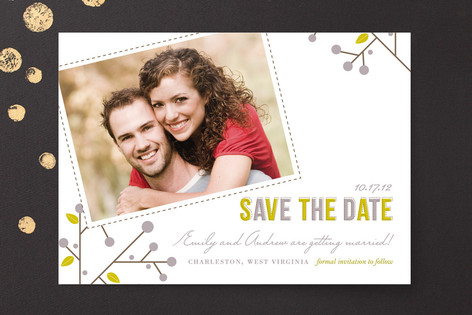 winter berries Save The Date Cards