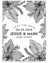 Floral Doodle Save The Date Cards