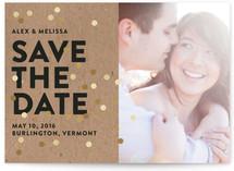 Confetti Glitz Photo Save the Date Cards