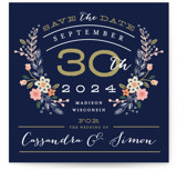 Wildflower Crest Save the Date Cards