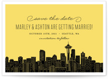 Big City- Seattle Save The Date Cards