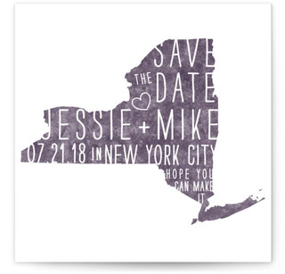 State Stamp- New York Save the Date Cards