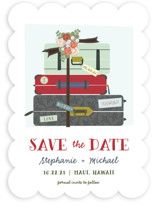 Luggage Save The Date Cards