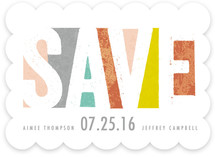 Bold Kaleidoscope Save The Date Cards