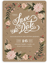 Cottage Florals Save The Date Cards