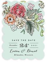 Dramatic Floral Date Save The Date Cards