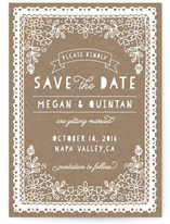 Floral Papercut Save The Date Cards