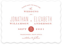 Formal Plain Save The Date Cards