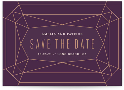 Geode Save the Date Cards